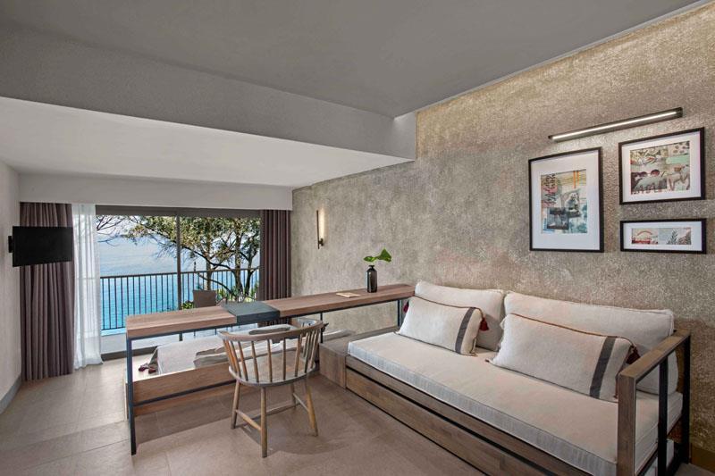 Premium Bağlantılı Aile Odası, Kısmi Deniz Manzaralı